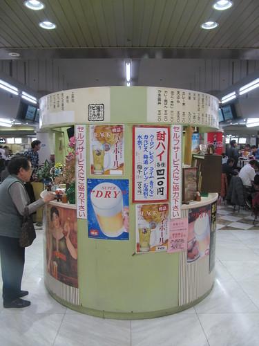中山競馬場の下辰と和可奈の食券売り場