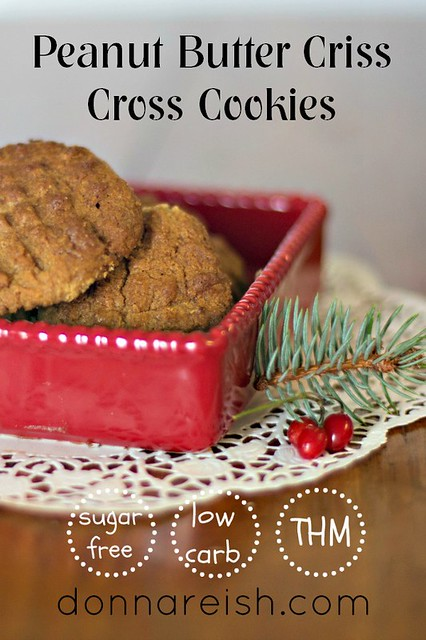Peanut Butter Criss Cross Cookies [Sugar Free & Flour Free]
