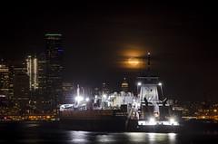 Seattle's Elliott Bay Moon Rise