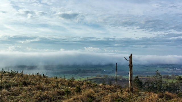 View from Mutters Moor #landscape #landscapephotography #clouds #fog #sidmouth #devon