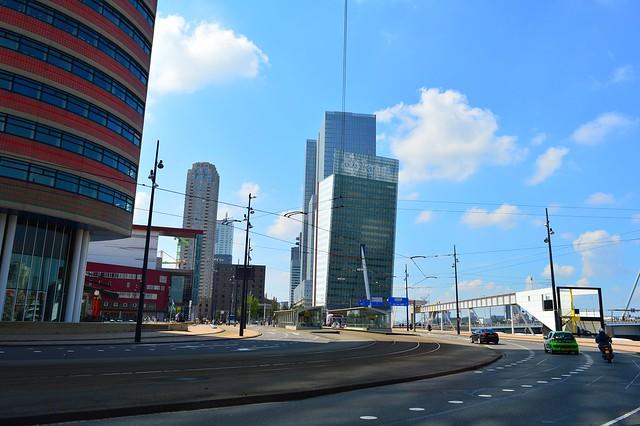 Rotterdam (View of the Kop van Zuid skyline & the Luxor Theater,from the Wilhelminakade)