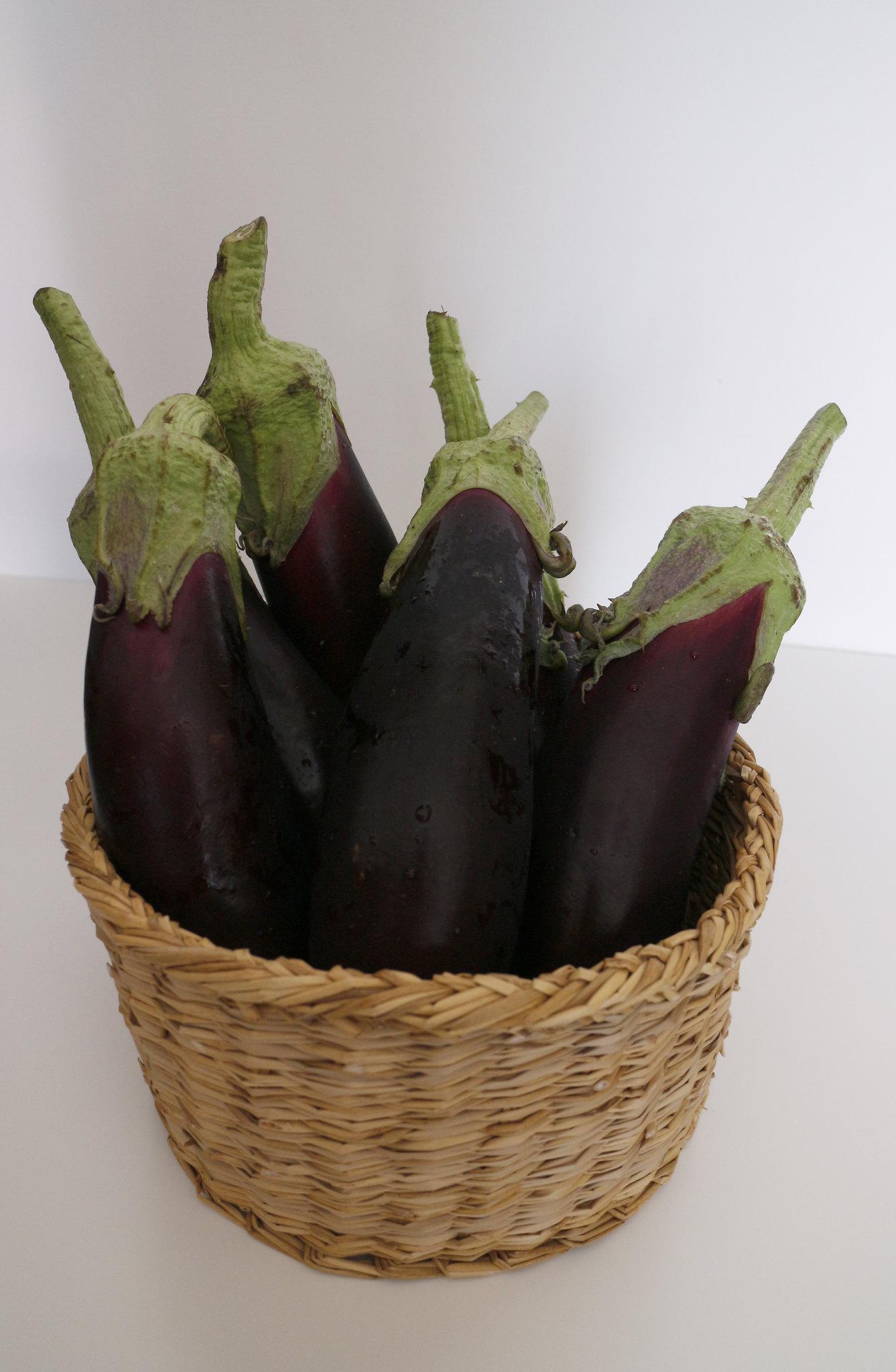 Melanzana nera lunga napoletana var. cima di viola