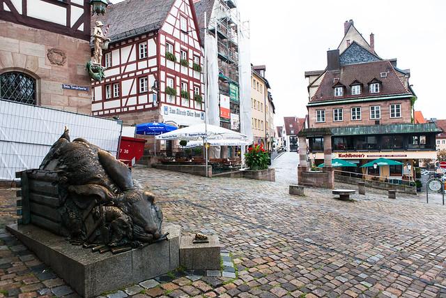 """""""Der Hase"""". Nuremberg (Nürnberg). Middle Franconia, Bavaria, Germany"""