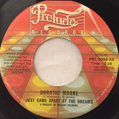DOROTHY MOORE:JUST CAME APART AT THE DREAM(LABEL SIDE-A)