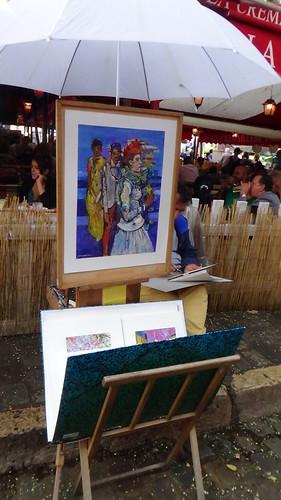 Paris Montmartre artists Aug 15 11