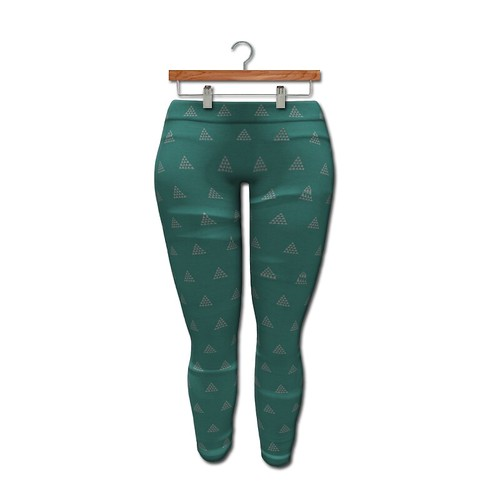 {MYNX} Leggings - Mint Triangles