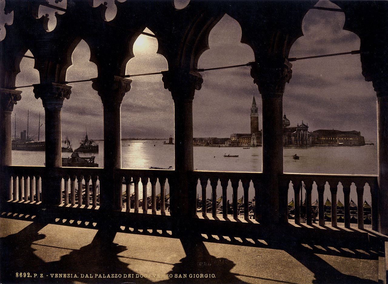 San Giorgio from Doges' Palace, Venice, Italy