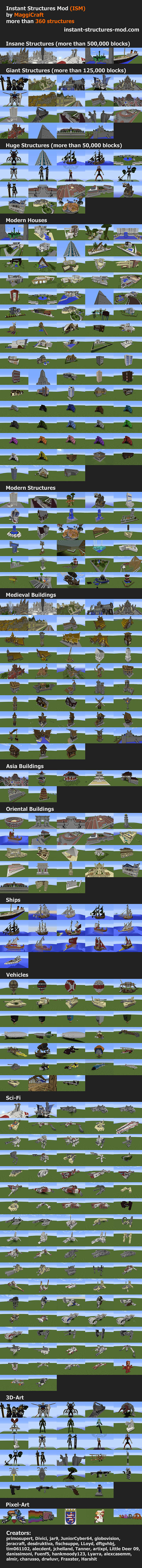 [1.7.10/1.8 Forge][365 Structures] Instant Structures Mod (ISM) by MaggiCraft