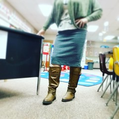 Strapped on my teachin' boots today. #brown #brownseptember #dailypic #365project #ayearofcolor #20150915 #mylife #mystyle #documentyourlife #boots #fall #clothes #teaching #myclassroom