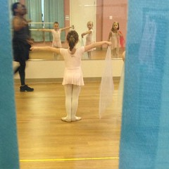 Through the curtains. They opened them a little bit. #ballet #danceclass #throughthecurtains