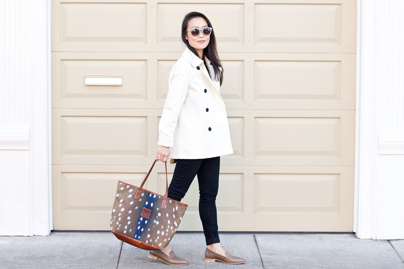 03-everlane-trench-loafer-bambi-deer-tote-fall-style-sf-fashion