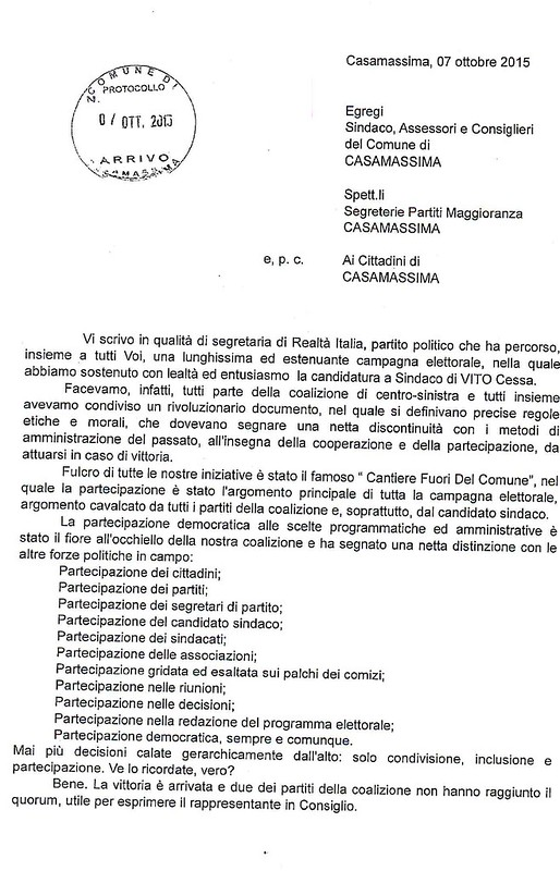Casamassima- Lettera Forleo 2