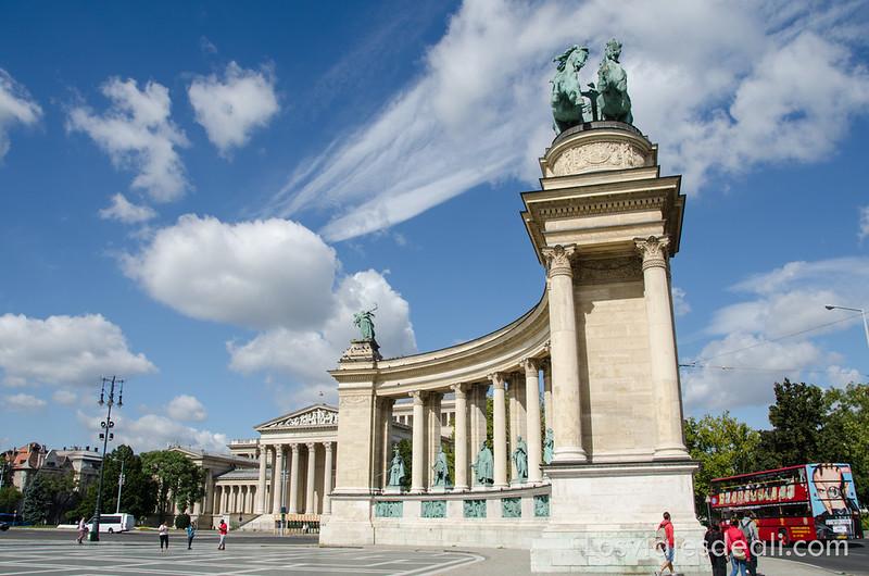 calles de Budapest plaza de los héroes