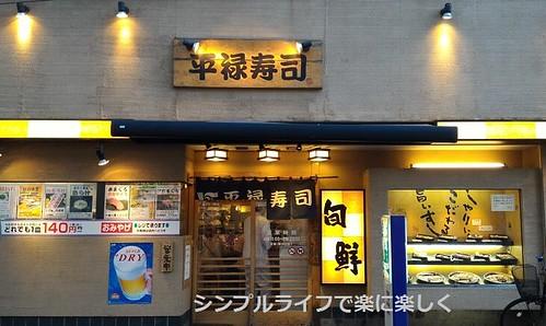 東京1日目、夕食・平禄寿司