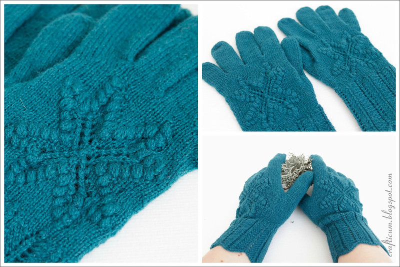 Teal star gloves