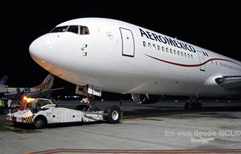 Aeromexico B767-300ER push back (D.Madariaga)