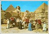 0177 R Giza The Great Sphinx and Keops pyramid Scanned postcard Braco sent 2. VIII. 1984. a