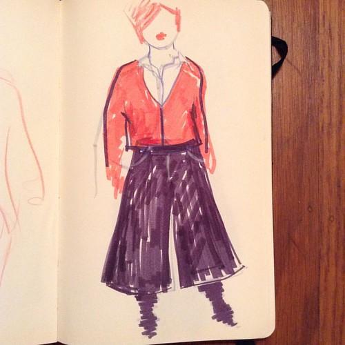 Culotte fantasy #sewingblog #culottes
