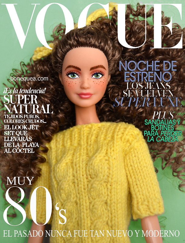 Ooak Barbie (Skipper headmold) para la portada de Vogue.