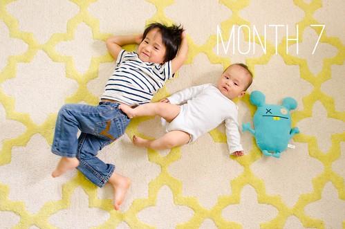 Oliver & Elliot - Month 7