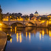 Blue Hour Along the Tiber by RobertCross1 (off and on)