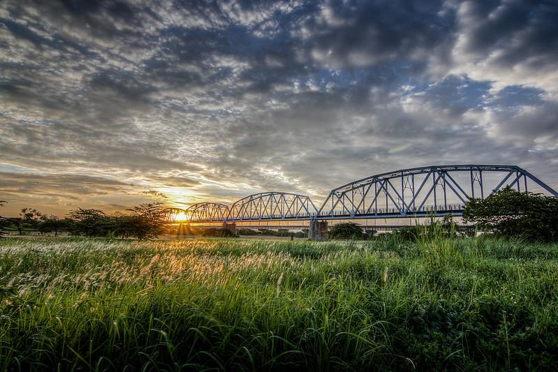 舊鐵橋日落