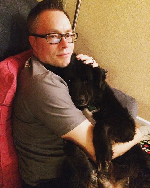 ...not to be outdone, a jealous Bear Cub gets a snuggle too.