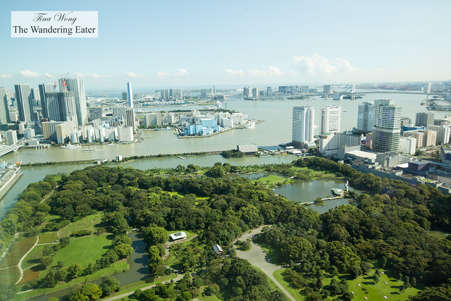 View of Hamarikyu Gardens from the King Executive Suite Bay View