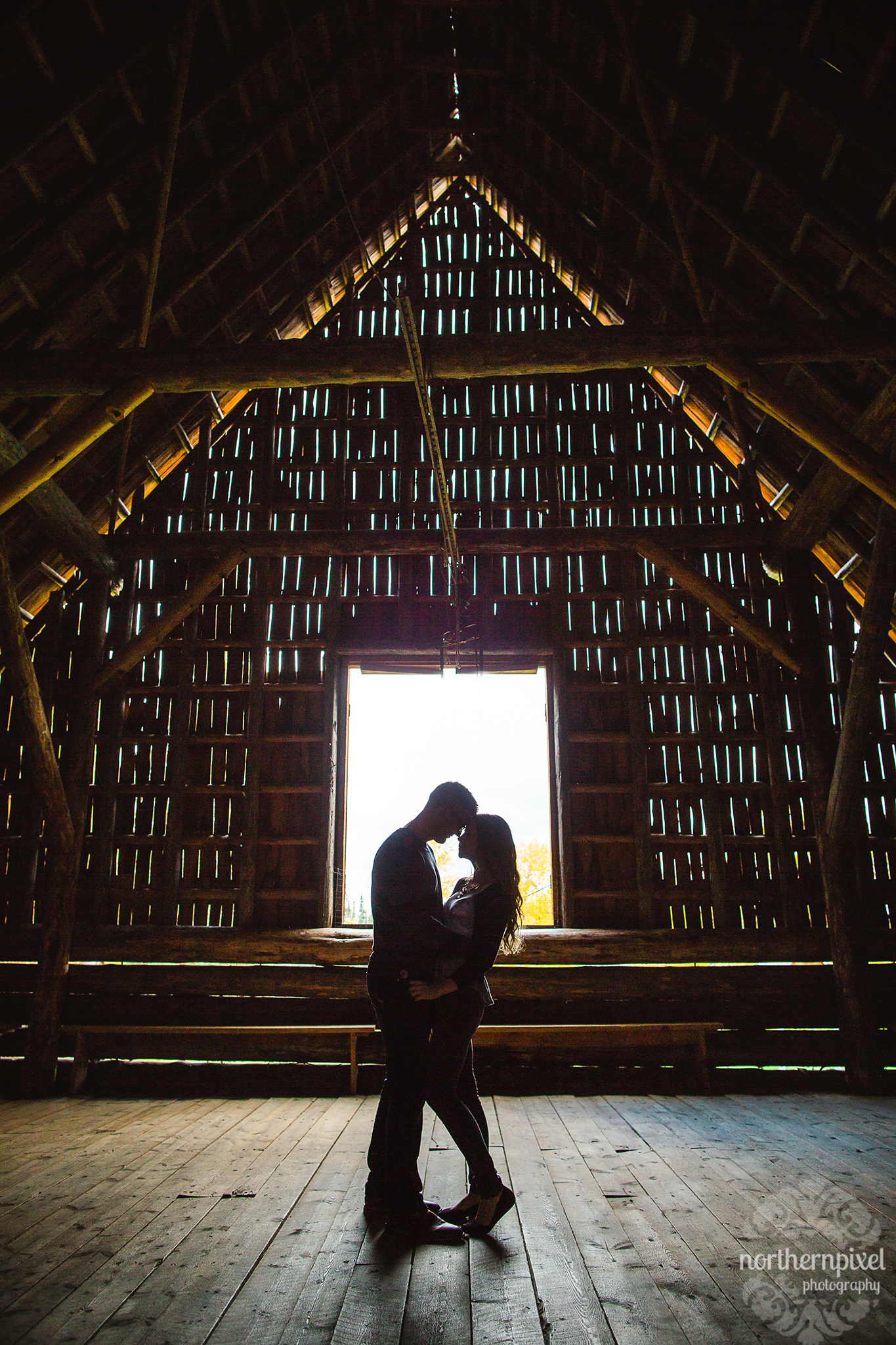 Huble Homestead Engagement Session - Prince George BC