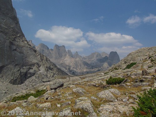 One last peek-a-boo glimpse into the Cirque of Towers from Jackass Pass, Wind River Range, Wyoming