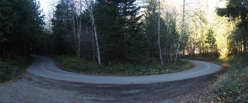 Reiter Rd Switchback: There were a number of these wide switchbacks on the road.