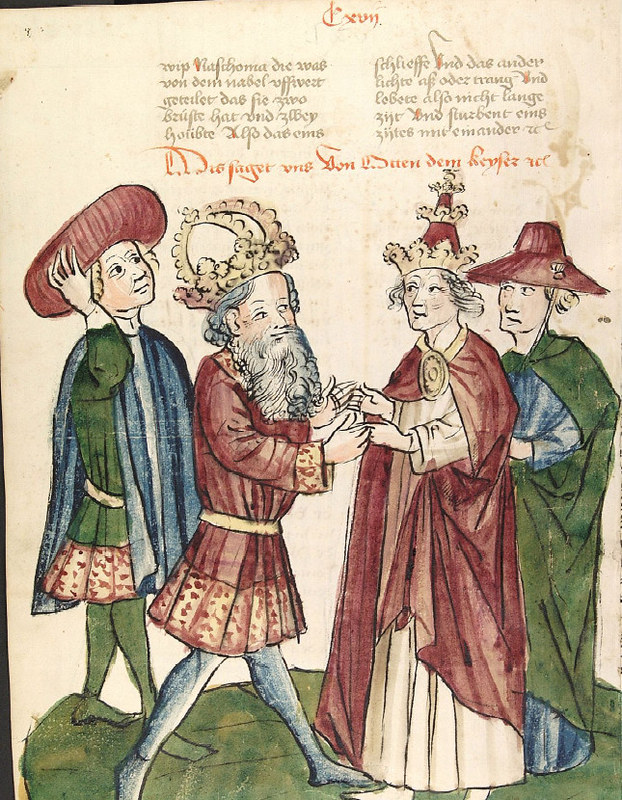 Holy Roman Emperor Otto I meets Pope John XII, by unknown artist
