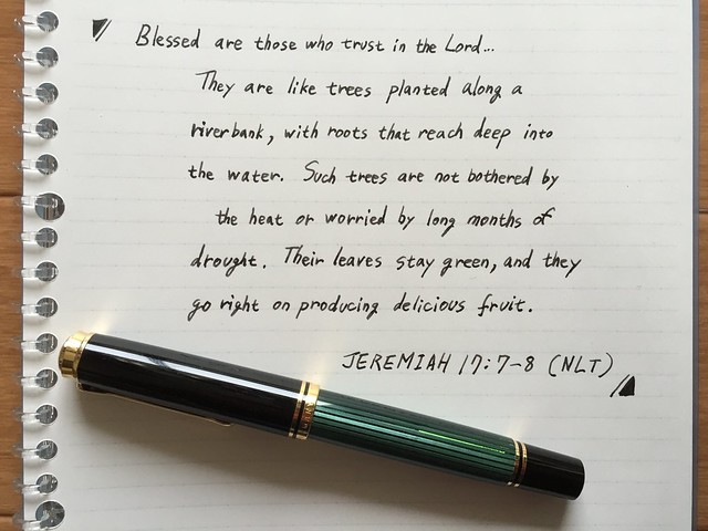 BIBLE WRITING WITH FOUNTAIN PEN