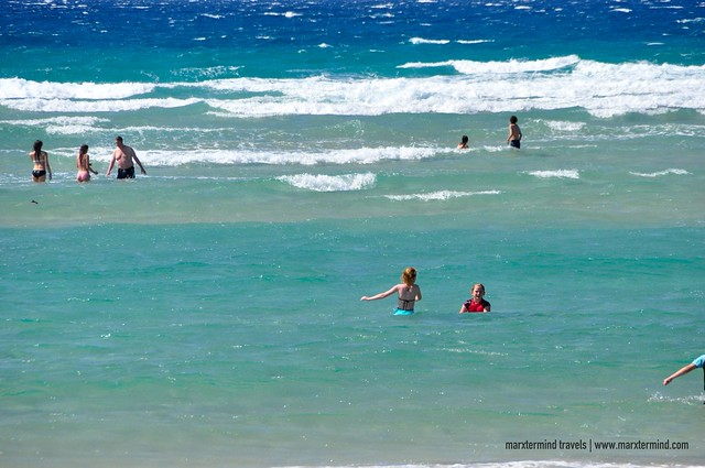 Beach Goers at Kirra Beach Gold Coast