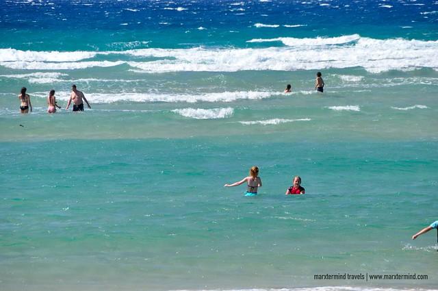 Beach Goers at Kirra Beach Gold Coast