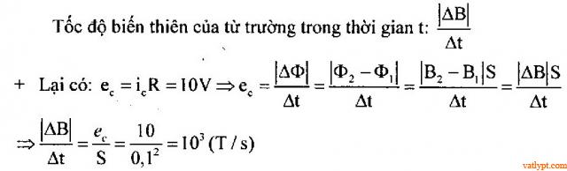 Bài tập suất điện động cảm ứng, vật lý phổ thông