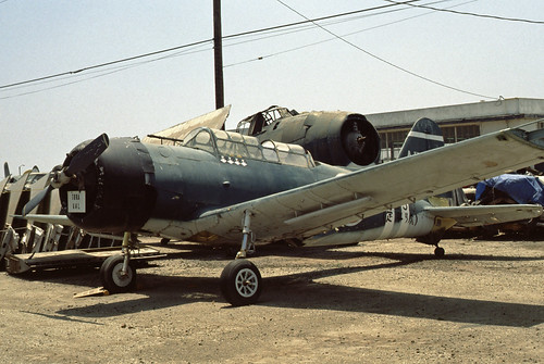 Aichi D3A Val (Vultee BT-13 Valiant) at the Planes Of Fame Museum, July 1980