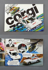 James Bond 007 - CORGI TOYS 1978 CATALOGUE of die cast collectables featuring #C269 JAMES BOND'S LOTUS ESPIRIT & #C926 STROMBERG'S JET RANGER HELICOPTER by Mettoy - Great Britain