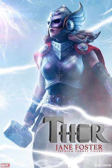 Sideshow Collectibles【新一代雷神:珍.福斯特】Thor: Jane Foster 1/4 比例全身雕像作品