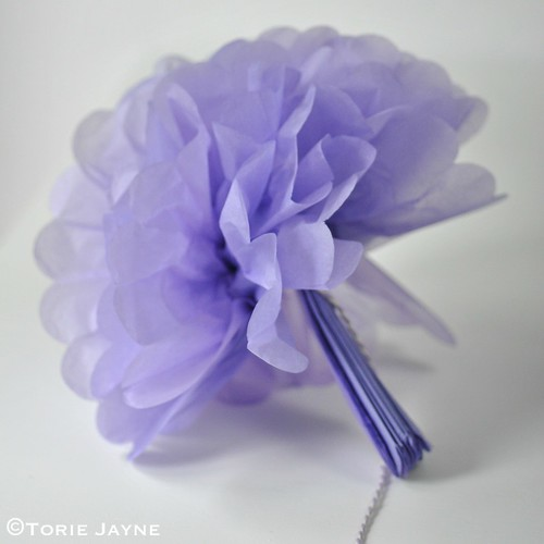 Pom pom paper flower tutorial 6