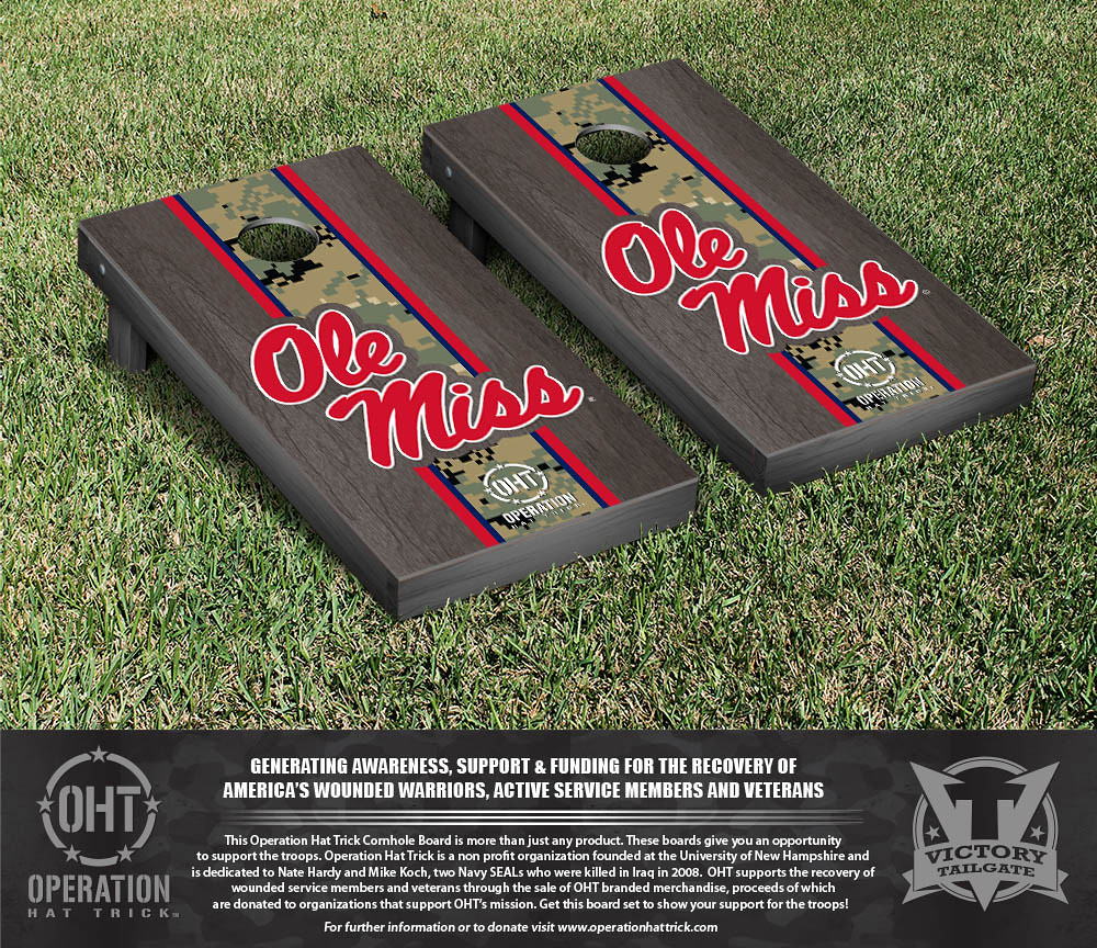 Ole Miss Rebels Operation Hat Trick Onyx Stained Stripe Version