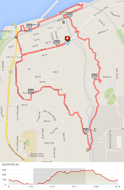 """Today""""s awesome walk, 6.18 miles in 2:18, 13,288 steps, 656ft gain"""