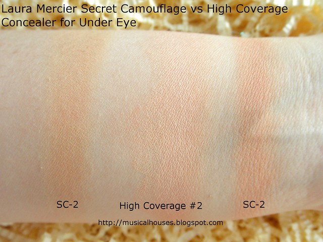 Laura Mercier High Coverage Concealer for Under Eye 2 Secret Concealer SC2 Swatch