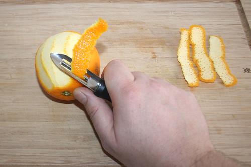12 - Orangenschale dünn abschälen / Peel orange very thin