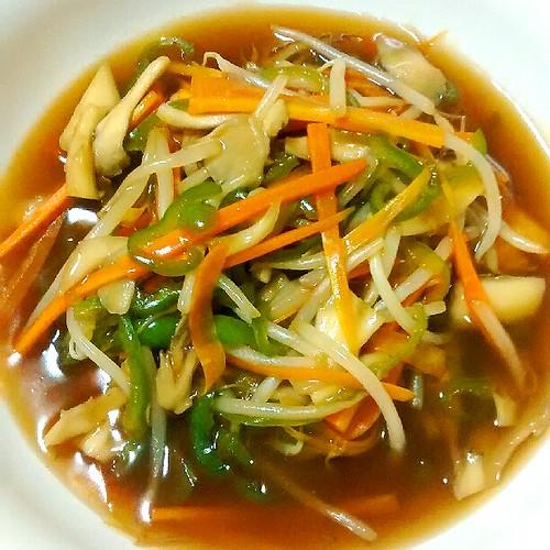 秋ですよ!鮭の野菜どっさり甘酢あんかけが美味しい