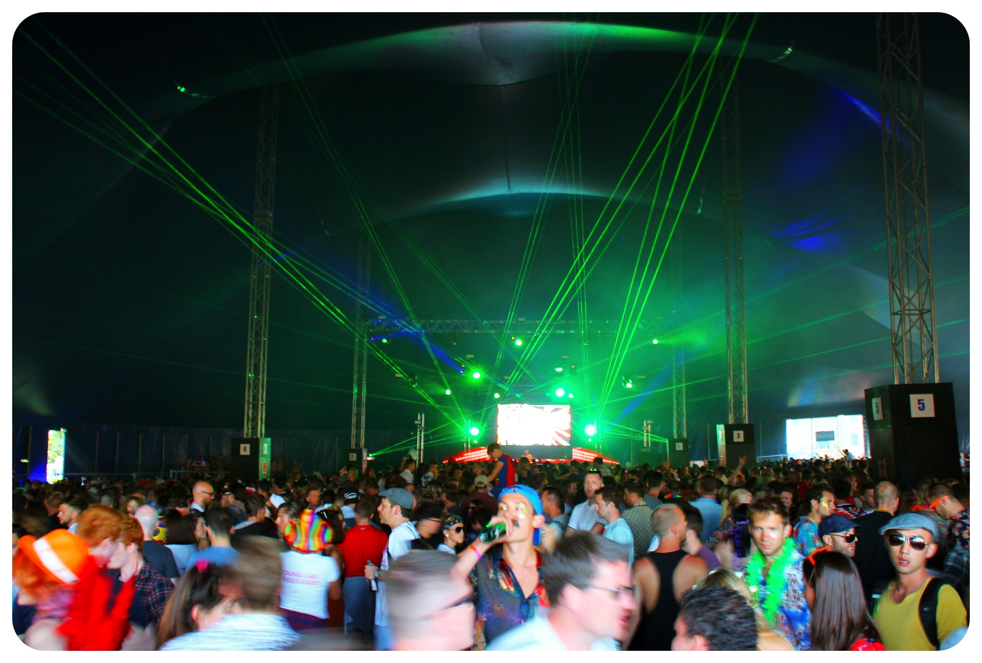 brighton pride festival grounds dance tent