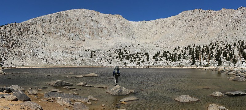 Chicken Spring Lake on the Pacific Crest Trail. The water level was very low