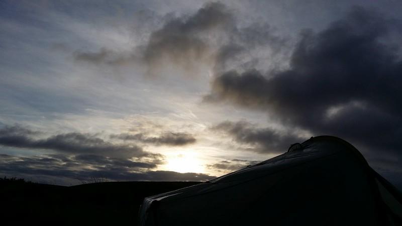 Daybreak at camp