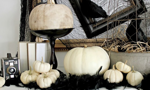 Halloween Decorating Ideas White Pumpkins