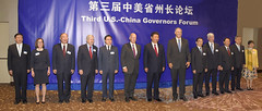 Gov. Inslee and a bipartisan group of U.S. governors met and signed an accord with Chinese governors to promote clean energy technology and economic development